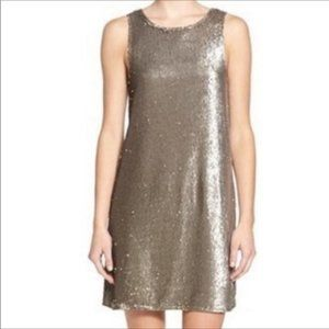 Cupcakes and Cashmere Taupe Pip Sequin Dress Small